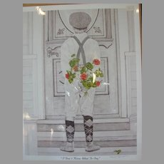 """Kim Reinmuth Limited Edition Print """"I Don't Know What To Say"""""""