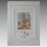 "Old Nursery Rhymes ""Polly Put The Kettle On"" Limited Edition Print Vintage English"