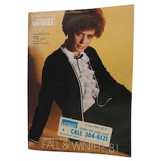 1981 Montgomery Ward Fall & Winter Advertising Catalog Clothing Shoes Furniture Baby Linens Housewares Catalogue Vintage