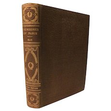 The Miseries of Paris or Mysteries of Paris by Eugene Sue Antique Victorian Copy of 1842-1843 French Series Book