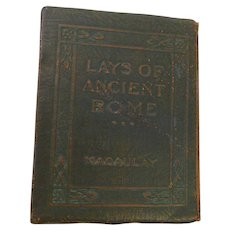 Little Leather Library Redcroft Lays of Ancient Rome Poem by Thomas Babington Macaulay Miniature 1920s Book Poetry