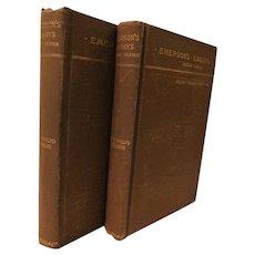 Essays by Ralph Waldo Emerson First & Second Series Antique Victorian Book Set