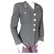 World War II Military ANC wool Tunic Jacket Woman's Army Officer Nurse WW2 6th Service Command Patch & Medals Lieutenant Bars