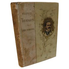 Helpful Thoughts From Henry Drummond Victorian with 6 Flower Lithograph Color Plates  Christian Moral Antique Book