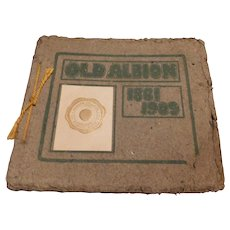 Old Albion 1861-1909 College Michigan History Wesleyan Seminary Antique Book Buildings Clubs Athletics Presidents Contests Periodicals