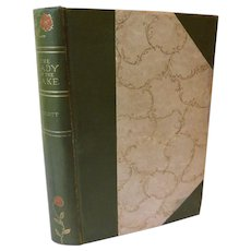 The Lady of the Lake by poet Sir Walter Scott Victorian Poetry Scotland Romance Poem Book Nice Binding