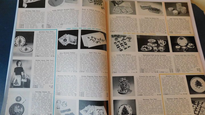 1964 Miles Kimball Christmas Gift Catalog Toys Cards Plates Vintage Mail Order Catalogue Candies