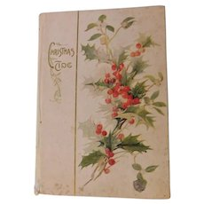Antique Edwardian Christmastide Poems Poetry with Color Plate Lithographs by Cupples & Leon Gift Book