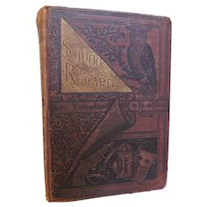1886 Five Thousand Dollars Reward by Frank Pinkerton First Edition Detective Crime Novel Illustrated Antique Victorian Mystery Book