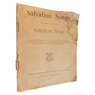 1900 Salvation Songs for the Use of the Salvation Army Victorian Antique Music Book