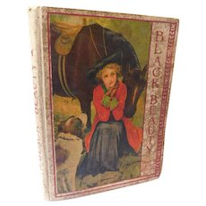 Victorian Black Beauty & Other Stories Young Folks Edition Lithograph Lady & Horse Saint Bernard Dog Cover The Little Mermaid The Snow Queen The Emperor's New Suit