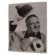 Vintage W.C. Fields Photograph Movie Photo Still Suit Hat & Flower 10x8 Photograph Print
