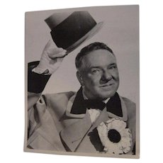 Vintage W.C. Fields Photograph Movie Photo Still Suit Hat & Flower 10x8 Photograph Print