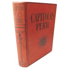 Capitola's Peril Victorian Mrs. EDEN Southworth Antique book Moral Romance Novel