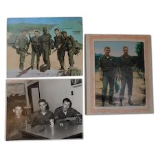 1969 ID'd Vintage 3 Photos Korean DMZ Conflict War Camp Hovey Army 101st Airborne 7th Infantry Soldiers Korea Photographs