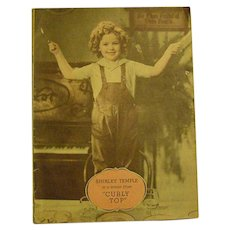 1936 Shirley Temple Song Book 2 Sheet Music & Duo Tone Photo Prints From Movies Vintage Art Deco