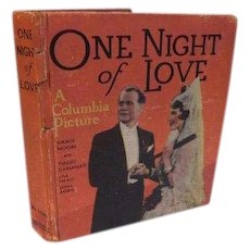 1935 One Night of Love Columbia Picture Grace Moore Tullio Carminatia Art Deco Full of Movie Still Photos Book Opera Music Romance