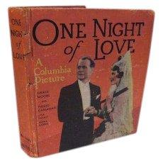 1935 One Night of Love Columbia Picture Grace Moore Tullio Carminatia Art Deco Full of Movie Still Photos Book Opera Music Romance