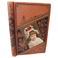 1880 Little People The Little Housewife & Christmas Nativity Jesus Story Illustrated Childrens Book with Fine Binding