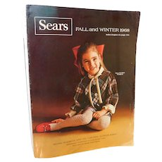 1968 Sears Fall and Winter Catalog Fashion Housewares Sporting Goods Linens Tires Radios Dishes Appliances Tools Illustrated Catalogue Vintage