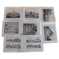 1893 -1894 Chicago World's Fair Columbian Exposition Complete Set of 16 Portfolios Books of Over 250 Photographs Antique Victorian Photo