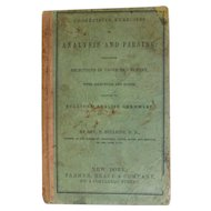 1856 Progressive Excersises In Analysis and Parsing Selections in Prose & Poetry Bullions' English Grammar Antique School Book