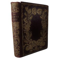 1850s The Lady's Gift or Souvenir of Friendship Antique Poetry Poem & Prose Book Fine Binding Leather Gilt
