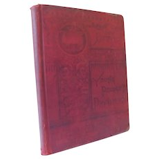 1889 Physiology For Young People for Intermediate and Common Schools Temperance Hygiene Anatomy Bones Muscles Senses Victorian School Book