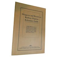 1920 American Railway Express Company Shippers & Receivers Reference Guide Grand Rapids Michigan Railroad Depot Employees Hand book Manual