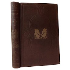 1856 The Guardian Angel And Other Poems by Caroline Congdon a Dying Teenager Poetry on Death Angels Flowers Antique Victorian Book First Edition