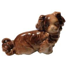 Cavalier King Charles Spaniel Porcelain Dog Figurine Marked Germany 10205
