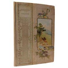 1896 Character By Ralph Waldo Emerson Prose Gift Book Antique Victorian Vellum Gilt & Flower Cover