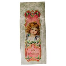 Victorian The Brookside Die Cut Poetry Poem Book Card Beautiful Lithograph Child