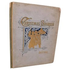 1887 Christmas Stories From the Sketch-Book by Washington Irving Illustrated Antique Victorian Book