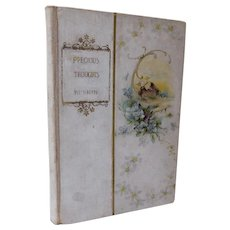 1897 Precious Thoughts by John Ruskin Moral & Religious Philosophy Book Victorian Contentment Mercy Truth Divine Laws