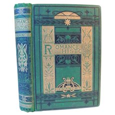 1872 The Romance of the History of France by Leitch Ritchie Illustrations by T. Landseer Novels & Legends Antique Victorian Fine Binding Book