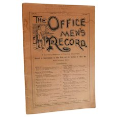 1892 The Office Men's Record Quarterly Magazine of Practical Knowledge Improvements in Office Work Business and Interests of Office World's Fair 1893 Award Stamp Antique Victorian