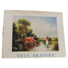 Victorian Miniature Childrens Book True Bravery Short Stories Henry Coleman & Co England 3 Inches High Doll or Child