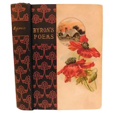 Byron's Poems Poetry Poet The Poetical Works of Lord Byron Antique Victorian Book Fine Binding
