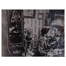 1901 Victorian Children Kissing Love Courtship Marriage Keystone Stereoview Stereo optic Viewer Photograph Trick Photography