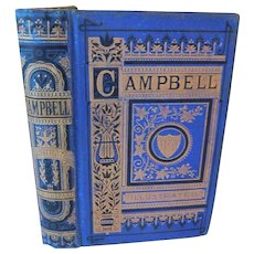 1873 The Poetical Works of Thomas Campbell with Illustrations by Sir John Gilbert Fine Binding Gilt Victorian Poetry Poems Antique