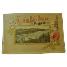Edwardian to Early Art Deco Columbia River Highway & Portland Oregon Souvenir Advertising Tourism Book  44 Color Illustrated Antique Pacific Northwest
