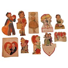 10 Valentine's Day Cards Collection Adorable Old Love Greetings Children Romance
