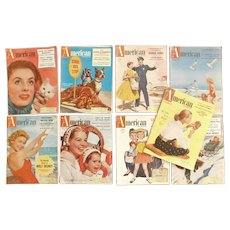 1955 - 1956 The American Magazine Stories Advertising Walt Disney Lawrence Welk Desi Arnaz Ozzie & Harriet Collection of 9