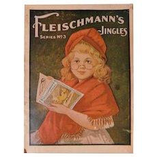 1905 Fleischmann's Jingles Series 3 Advertising Premium Trade Card Book Yeast Cute Stories Illustrated & Bread Recipe Antique Edwardian