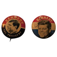 John F. Kennedy For President Political Campaign Buttons Pinbacks Pins Presidential Race