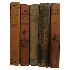 Collection of Jack London Books Call Of The Wild Lost Face House of Pride Burning Daylight When God Laughs Antique Books