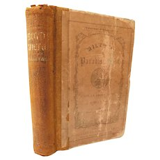1850 The Paradise Lost by John Milton with Notes Explanation and Critical Prof. James Boyd for Students School Edition Poems Poetry Christian Fall of Man