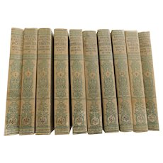 1916 Set of 10 Volumes of Mental Efficiency Series Set Antique Books Improve Character Personality Common Sense Perseverance Speech Influence Poise & Overcome Timidity