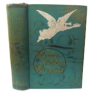 1891 White Angel of World Foretells the Freedom of the Nations From the Evils of Strong Drink & History of Alcohol by Small Prohibition Temperance Victorian Antique Book Illustrated
